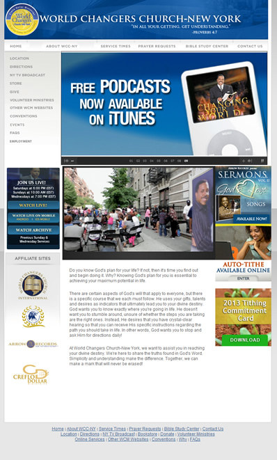 WCCNY - Website Screenshot
